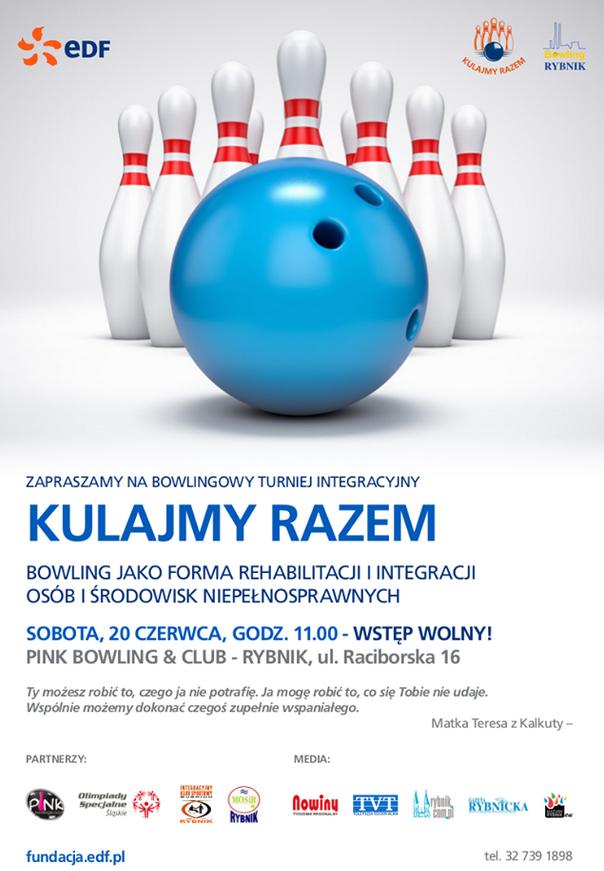 Plakat - Bowlingowy Turniej Integracyjny Rybnik