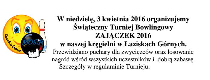 Bowlingowy Zajączek 2016 - łaziska - plakat